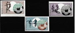 Niger.1974   Football. Munich. Coupe Du Monde.World Cup . 3 Timbres  Non-dentelés - 1974 – Westdeutschland