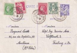 ALSACE-LORRAINE 1946      ENTIER POSTAL/GANZSACHE/POSTAL STATIONERY CARTE DE MULHOUSE - Storia Postale