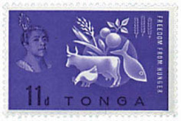 Ref. 37038 * NEW *  - TONGA . 1963. WORLD CAMPAIGN AGAINST HUNGER. CAMPA�A MUNDIAL CONTRA EL HAMBRE - Tonga (1970-...)