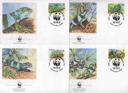 Ref. 23147 * NEW *  - TONGA . 1990. BANDED IGUANA. IGUANA DE BANDAS - Tonga (1970-...)