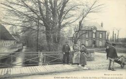 CRIEL PLAGE - L'école Des Filles Et L'Yères Au Pont De Criel. - Criel Sur Mer
