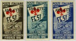 Ref. 29147 * NEW *  - TRIESTE A Zone . 1951. INTERNATIONAL GYMNASTICS FESTIVALS AND COMPETITIONS IN. FIESTAS Y CONCURSO - Trieste
