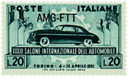 Ref. 42420 * NEW *  - TRIESTE A Zone . 1951. 33rd INTERNATIONAL AUTOMOBILE EXHIBITION. 33 SALON INTERNACIONAL DEL AUTOMO - Trieste