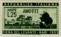 Ref. 217230 * HINGED *  - TRIESTE A Zone . 1952. 16th FIERA DEL LEVANTE IN BARI. 16 FERIA DEL LEVANTE EN BARI - Trieste