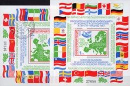 Madrid KSZE-Konferenz 1983 Bulgaria Blocks 137 **/o 24€ Europa Landkarte M/s Bloque Flags Blocs Maps Sheets Bf CEPT - Bulgaria