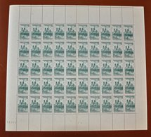 Feuille Complète De 50 Timbres France 1947 - Neuf -  YT N°776 Cathédrale Notre Dame De Paris 10f + 6 F Vert - Feuilles Complètes