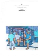 Grande Cpm - Tahiti - LE TRUCK BLEU - Illustration F. Ravello - Tiki Tahiti N°103 - Camion Autobus Animation Passagers - Polynésie Française