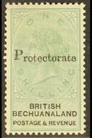 """1888  1s Green & Black """"Protectorate"""" Opt'd, SG 46, Very Fine Mint For More Images, Please Visit Http://www.sandafayre.c - Bechuanaland (...-1966)"""