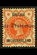 """1890  ½d Vermilion With 19mm """"Protectorate"""" Overprint, SG 55, Fine Mint. For More Images, Please Visit Http://www.sandaf - Bechuanaland (...-1966)"""