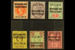 "1897 SPECIMENS  Set To 6d (less ½d Blue Green) Opt'd ""Specimen"", SG 59s/65s (less 60s), Very Fine Mint. (6 Stamps) For M - Bechuanaland (...-1966)"