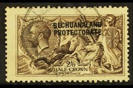 1913-24  2s6d Sepia Seahorse, DLR Printing, SG 86, Fine Used. For More Images, Please Visit Http://www.sandafayre.com/it - Bechuanaland (...-1966)