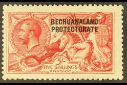 1913-24  5s Bright Carmine (DLR Printing), SG 87, Mint With Toned Gum For More Images, Please Visit Http://www.sandafayr - Bechuanaland (...-1966)