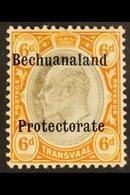 POSTAL FISCAL  1910 6d Black & Brown Orange, SG F1, Very Fine Mint For More Images, Please Visit Http://www.sandafayre.c - Bechuanaland (...-1966)