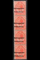 POSTAL FISCALS  1921 1d Scarlet Of South Africa Overprinted, SG F3, Vertical Strip Of 4, Very Fine Never Hinged Mint. Fo - Bechuanaland (...-1966)