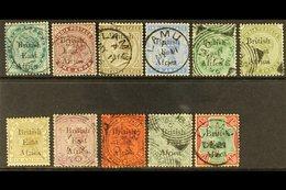 1895-96  Set (less 3a) To Both 1r, SG 49/60, Very Fine Used. (11 Stamps) For More Images, Please Visit Http://www.sandaf - Kenya, Uganda & Tanganyika