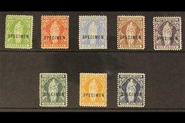 """1899  Virgin Set Complete Overprinted """"Specimen"""", SG 43s / 50s, Very Fine Mint. (8 Stamps) For More Images, Please Visit - Britse Maagdeneilanden"""