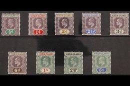 1904  KEVII MCA Wmk Complete Set, SG 54/62, Fine Fresh Mint. (9 Stamps) For More Images, Please Visit Http://www.sandafa - Britse Maagdeneilanden