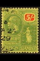1922-28  5s Green And Red On Pale Yellow, SG 85, Fine Used With 1929 Cds. For More Images, Please Visit Http://www.sanda - Britse Maagdeneilanden