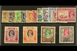1946  Definitives In New Colours Complete Set, SG 51/63. Fine Used. For More Images, Please Visit Http://www.sandafayre. - Burma (...-1947)