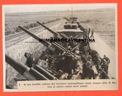 Treno Blindato Contraerea Militari Marina Costiera Armored Trains Cannoni Cannon Flak Antiaircraft Train Antiaérien - Guerre, Militaire