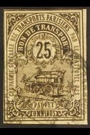 COLIS POSTAUX POUR PARIS  1878 25c Brown Local Parcel Post For Paris, Maury 1, Used, Minor Wrinkles, Scarce. For More Im - France