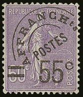 PRECANCELS (PREOBLITERES)  1922-47 55c On 60c Violet, Yvert 47, Never Hinged Mint For More Images, Please Visit Http://w - France