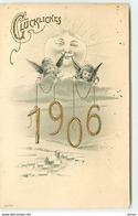 N°12622 - Carte Fantaisie - Glückliches - Anges 1906 - Anno Nuovo