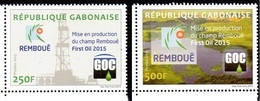Gabon 1205/06 Exploitation Du Champ Remboué, Pétrole - Erdöl