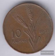 Turkey Km-number. : 898 1974 Very Fine Bronze Very Fine 1974 10 Kurus Fao - Turquia