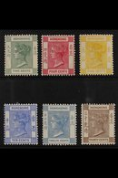 1900-01  Complete Set, SG 56/61, Fine Mint, Very Fresh. (6 Stamps) For More Images, Please Visit Http://www.sandafayre.c - Hong Kong (...-1997)