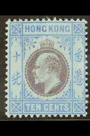 1903  10c Purple & Blue/blue, SG 67, Fine Mint For More Images, Please Visit Http://www.sandafayre.com/itemdetails.aspx? - Hong Kong (...-1997)