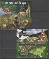 CA220 2015 CENTRAL AFRICA CENTRAFRICAINE FAUNA NIGHT BUTTERFLIES LES PAPILLONS DE NUIT KB+BL MNH - Butterflies