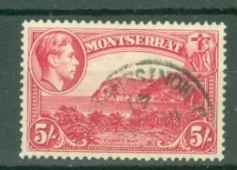 Montserrat: 1938/48   KGVI   SG110    5/-  [Perf: 13]    Used - Montserrat