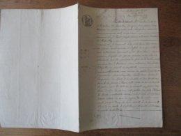 23 JANVIER 1842 VENTE PAR BENOIT CARION ET EMMANUEL HELIN CULTIVATEURS A MAROILLES A DIEUDONNE GERIN A NOYELLES PATURE A - Manuscrits