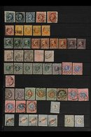 1852-1913 FINE USED SELECTION  Interesting Assembly On Stock Pages With Many Better Stamps, Some With Postmark Interest, - Netherlands