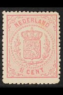 1869  1½c Rose, No Watermark, Thick Paper, Perf 14, SG 55, Fine Mint. For More Images, Please Visit Http://www.sandafayr - Netherlands