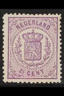 1869  2½c Mauve, No Watermark, Thin Paper, Perf 13-13½, SG 62, Fine Mint. For More Images, Please Visit Http://www.sanda - Netherlands