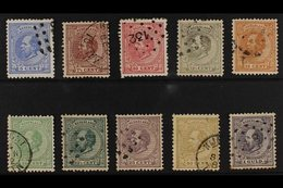 1872-91  William III Definitives Basic Set To 1g, Between SG 80 And SG 90, Good Used. (10 Stamps) For More Images, Pleas - Netherlands