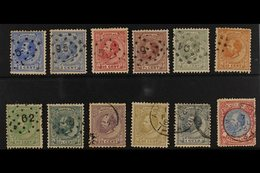 1872-91  William III Definitives Complete Basic Set To 2½g, Between SG 80 And SG 106, Used, The Odd Minor Fault. (12 Sta - Netherlands