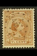 """1891-94  7½c Brown Queen (SG 149a, NVPH 36), Fine Used With Scarce """"246"""" (BORCULO) Numeral Cancel, Fresh & Rare. For Mor - Netherlands"""