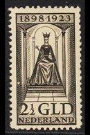 1923  2½g Black 25th Anniversary, SG 268, Very Fine Mint. For More Images, Please Visit Http://www.sandafayre.com/itemd - Netherlands