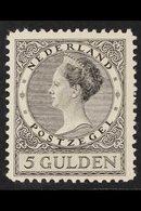 1926-30  5g Black Wilhelmina, SG 303, Very Fine Mint. For More Images, Please Visit Http://www.sandafayre.com/itemdetail - Netherlands