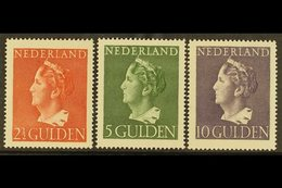 1946  Queen Wilhelmina 2½g, 5g And 10g (NVPH 347/49, SG 617/19), Very Fine Never Hinged Mint. (3 Stamps) For More Images - Netherlands