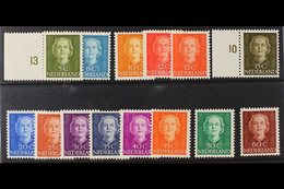 1949  5c To 60c Juliana Definitives (incl Both 12c Shades), SG 684/694 Plus 696/697, Fine Mint. (14 Stamps) For More Ima - Netherlands
