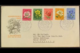1952 FIRST DAY COVER  (1 May) Cultural And Social Relief Fund Set (SG 749/53, NVPH 583/87, On Illustrated FDC To Liverpo - Netherlands