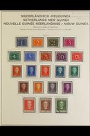 NETHERLANDS NEW GUINEA  1950-62 All Different Collection On Album Pages, Includes 1950-52 Defin Set Mint Or Used (the 2g - Netherlands