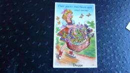 C'est Parmi Mes Fleurs Vous Verrez (Dépliant Panoramique Dans Le Panier) - Dieppe