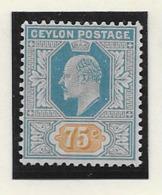 Ceylon 1904, SG 286 MH - Ceylon (...-1947)