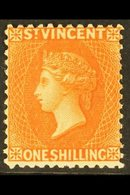 1883-84  1s Vermillion, Wmk CA, Perf 12, SG 45, Very Fine Mint For More Images, Please Visit Http://www.sandafayre.com/i - St.Vincent (...-1979)
