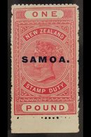 1914 - 24  £1 Rose Carmine, Perf 14½x14, SG 132, Very Fine Never Hinged Mint. For More Images, Please Visit Http://www.s - Samoa